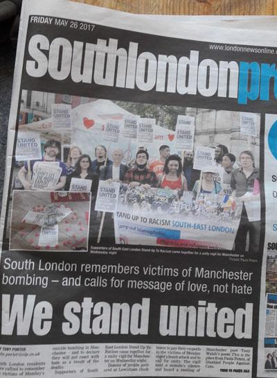 South-East London vigil